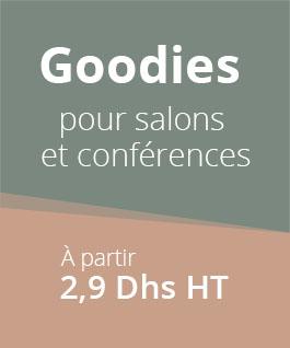 Goodies pour salons et conférences